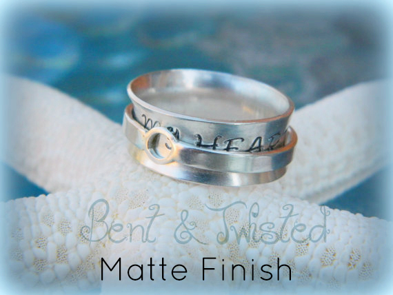 Silver Spinner Ring – Matte Finish