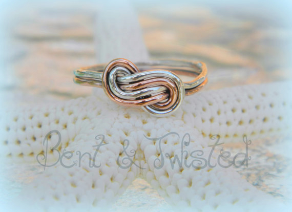 Bi Metal Infinity Knot Ring 2