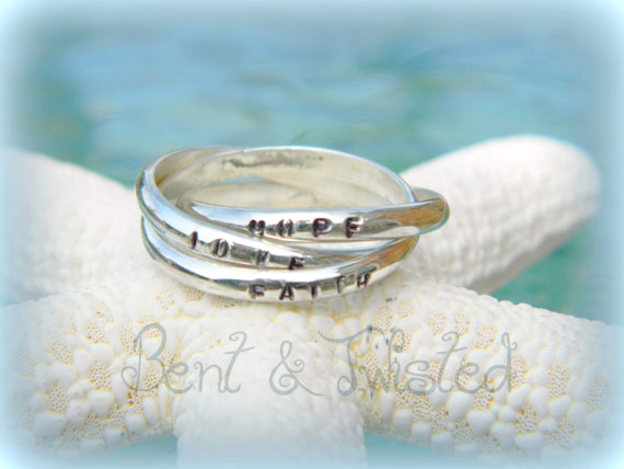 Personalized Interlocking 3 Band Rings 1