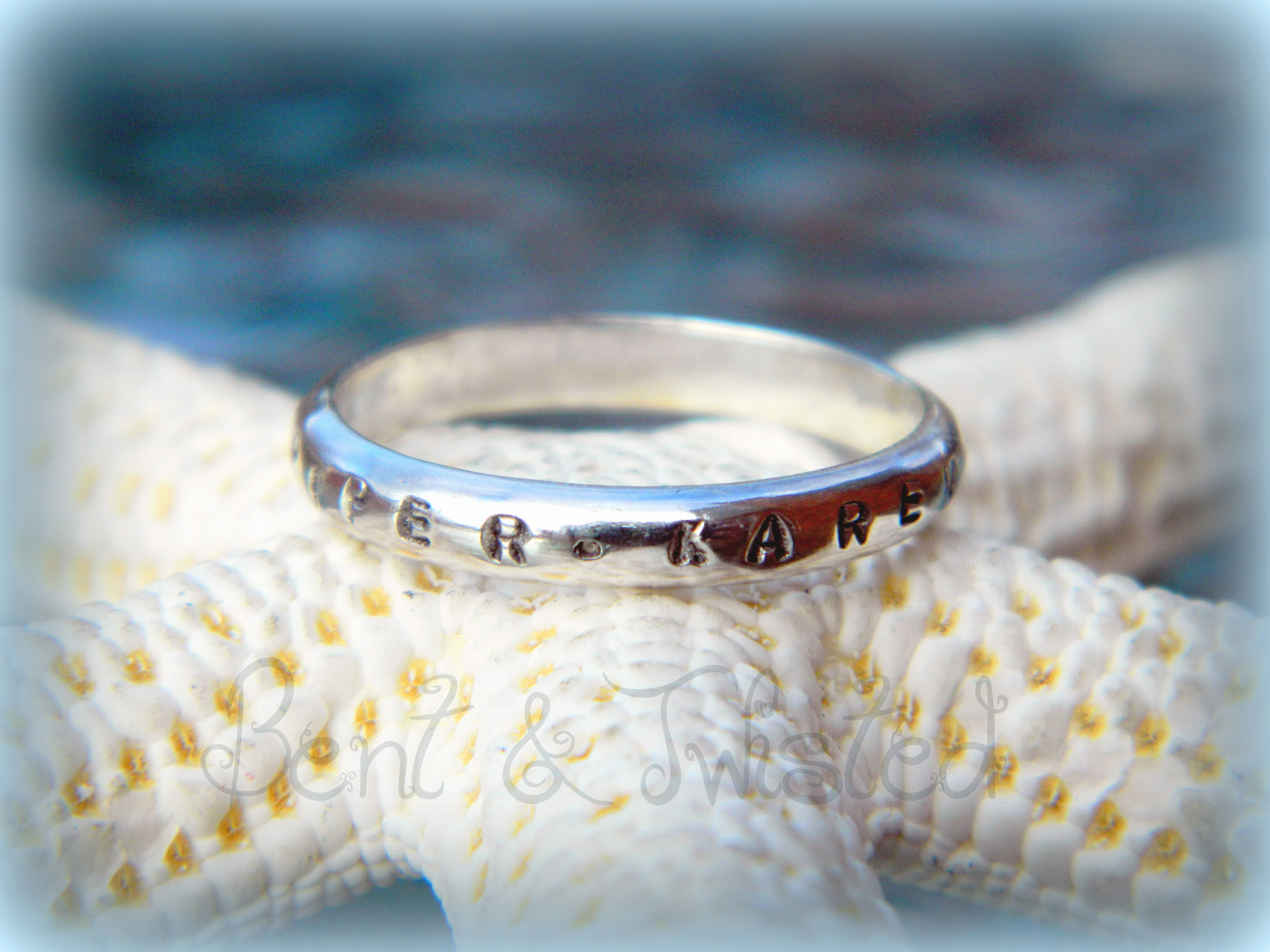 Stackable Stamped Mothers Ring