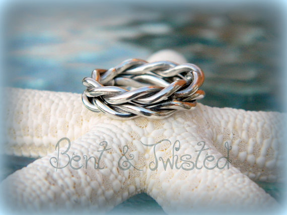 Twisted Faux Braided Band High Shine